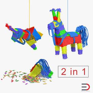 3D mexican donkey pinata