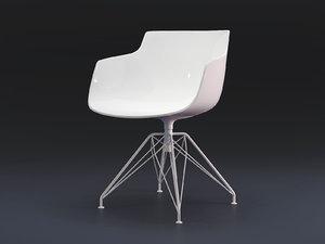 flow armchair 4-legged lem model