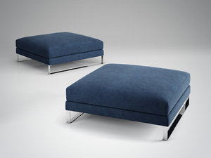 3D model exclusif 2 footstool