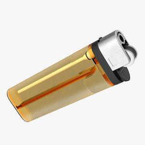 3D disposable transparent gas lighter model