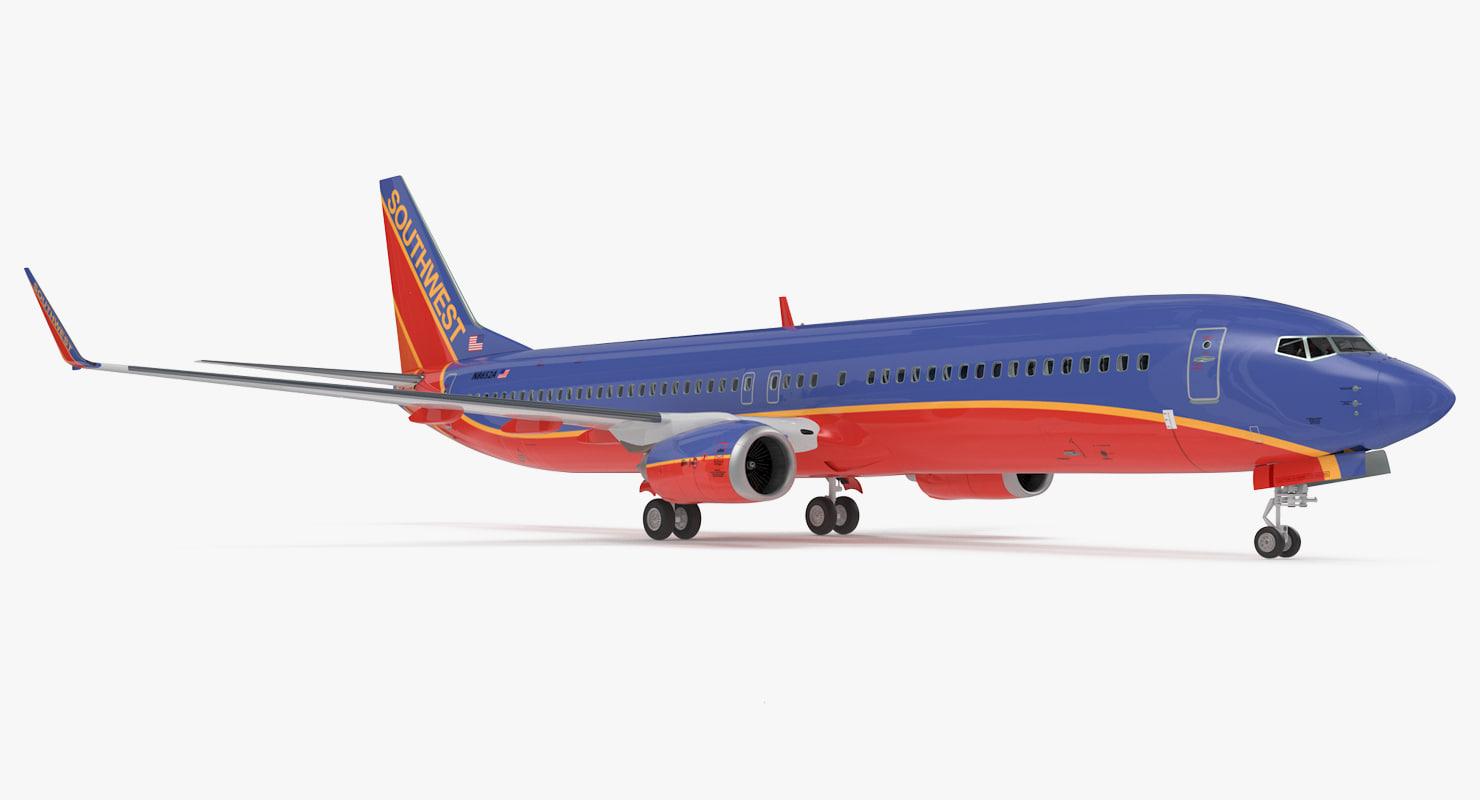 3D boeing 737-900 interior southwest