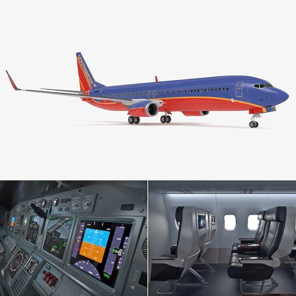 3D boeing 737-900 interior southwest