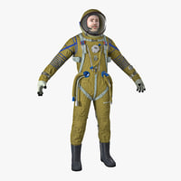 astronaut wearing space suit 3D