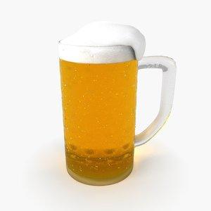 beer pint 3D
