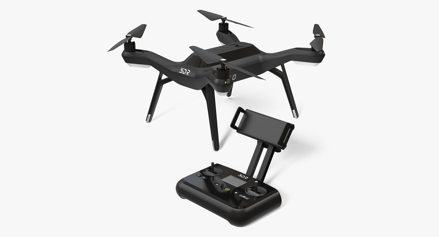 3DR Solo Drone Quadcopter Set Rigged