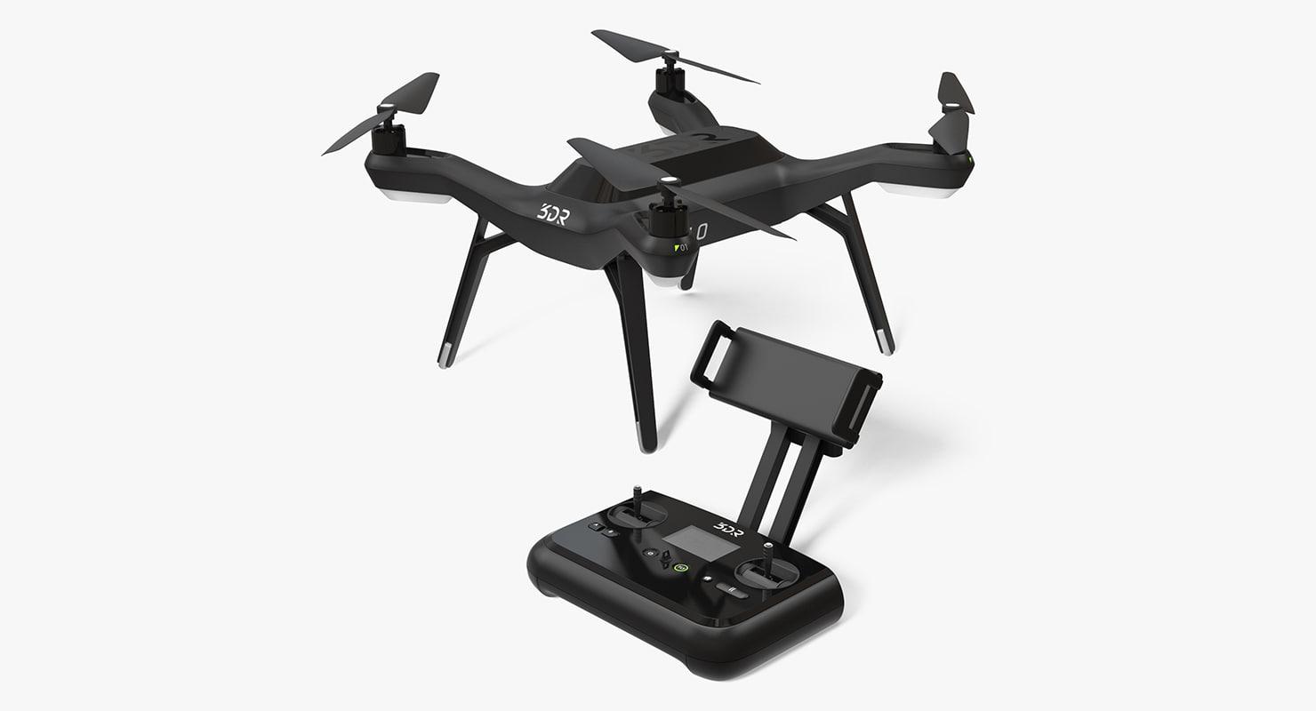 3dr solo drone quadcopter 3D