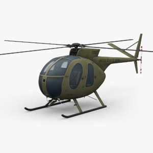 3D model hughes oh-6 cayuse