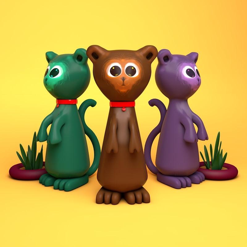 3D toy meerkat