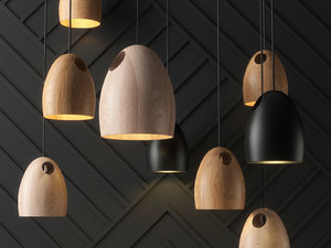 oak pendant light 3D