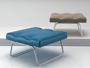 hirche outdoor footstool model