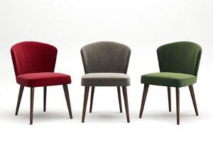 aston dining chair 3D model