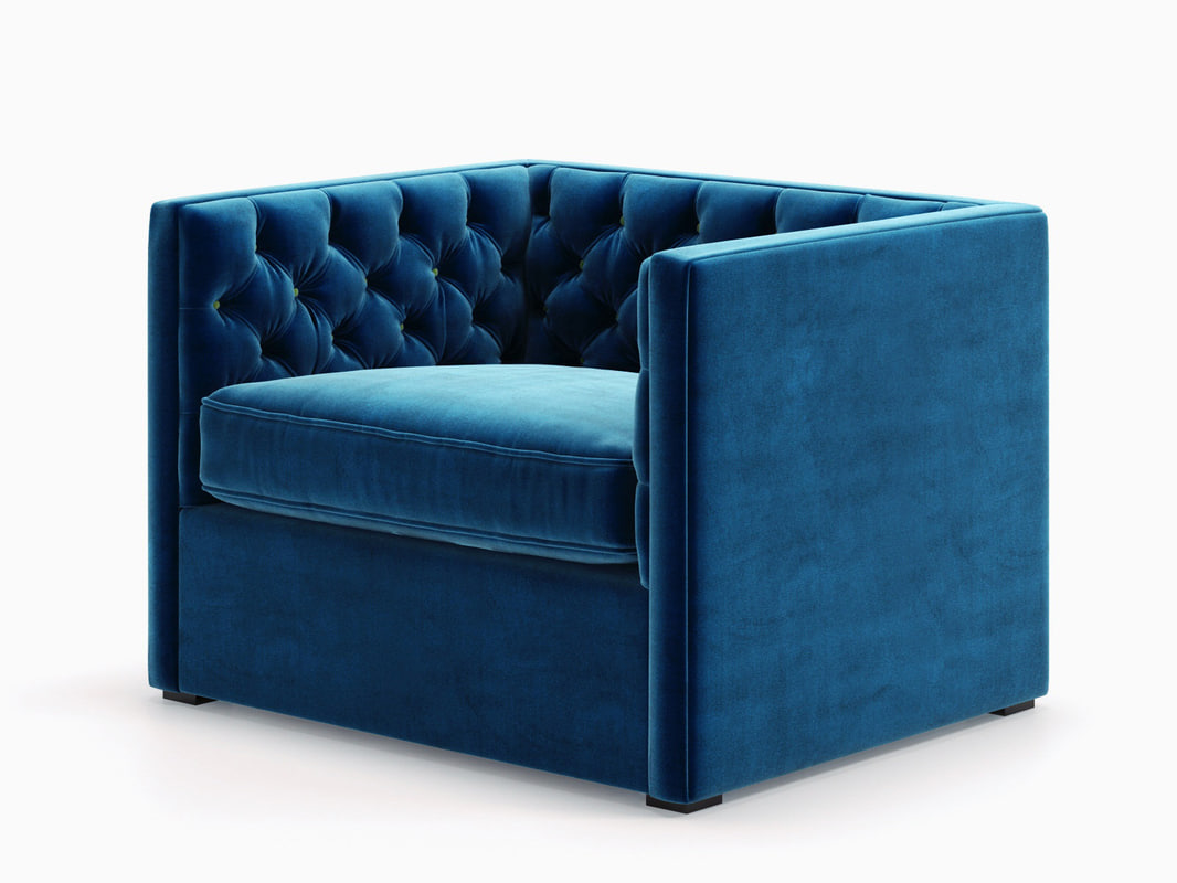 Mercer Tufted Club Chair Model
