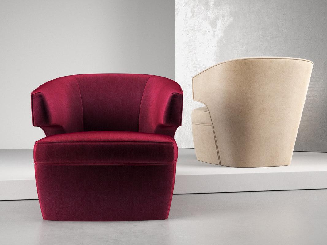 lana club chair 3D model