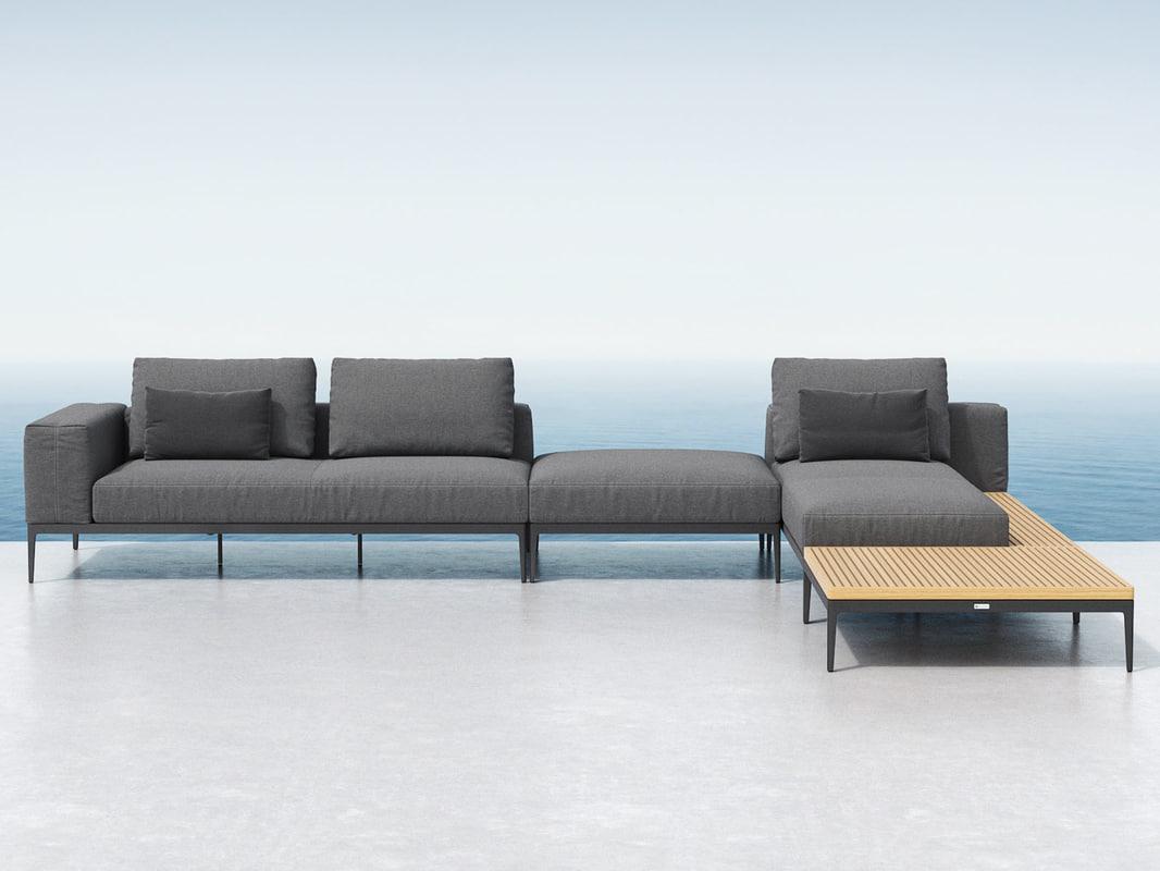 3D grid lounge h model