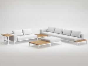 grid lounge d 3D model