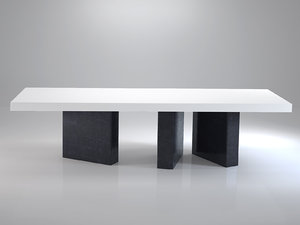 table bicolore 319 3D model
