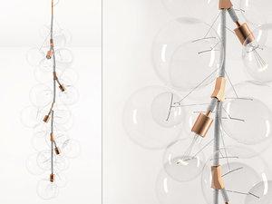 3D x-tall bubble chandelier model