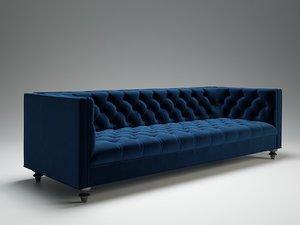 3D 007 navy sofa model