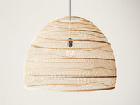 wicker hanging lamp large 3D model