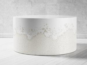 drum coffee table 3D model