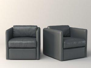 3D dunbar club chair
