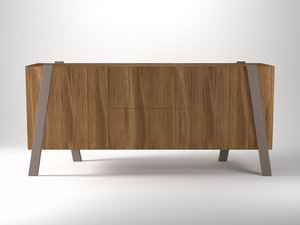 3D note sideboard
