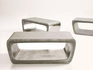 3D model o bench