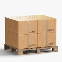 pallet boxes 3D