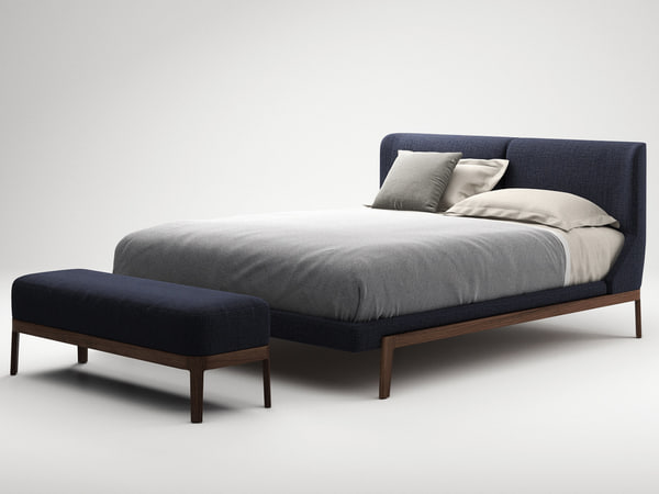 3D fulham bed bench
