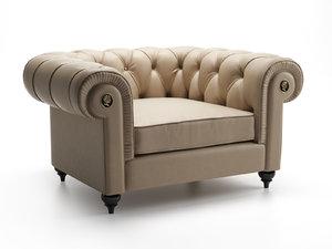 3D alfred armchair