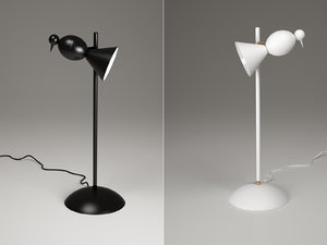 alouette desk center lamp 3D model
