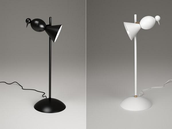alouette desk center lamp 3D model