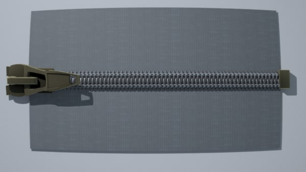 3D coil zipper model