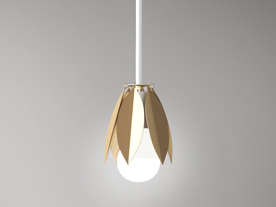 3D model bud pendant lamp