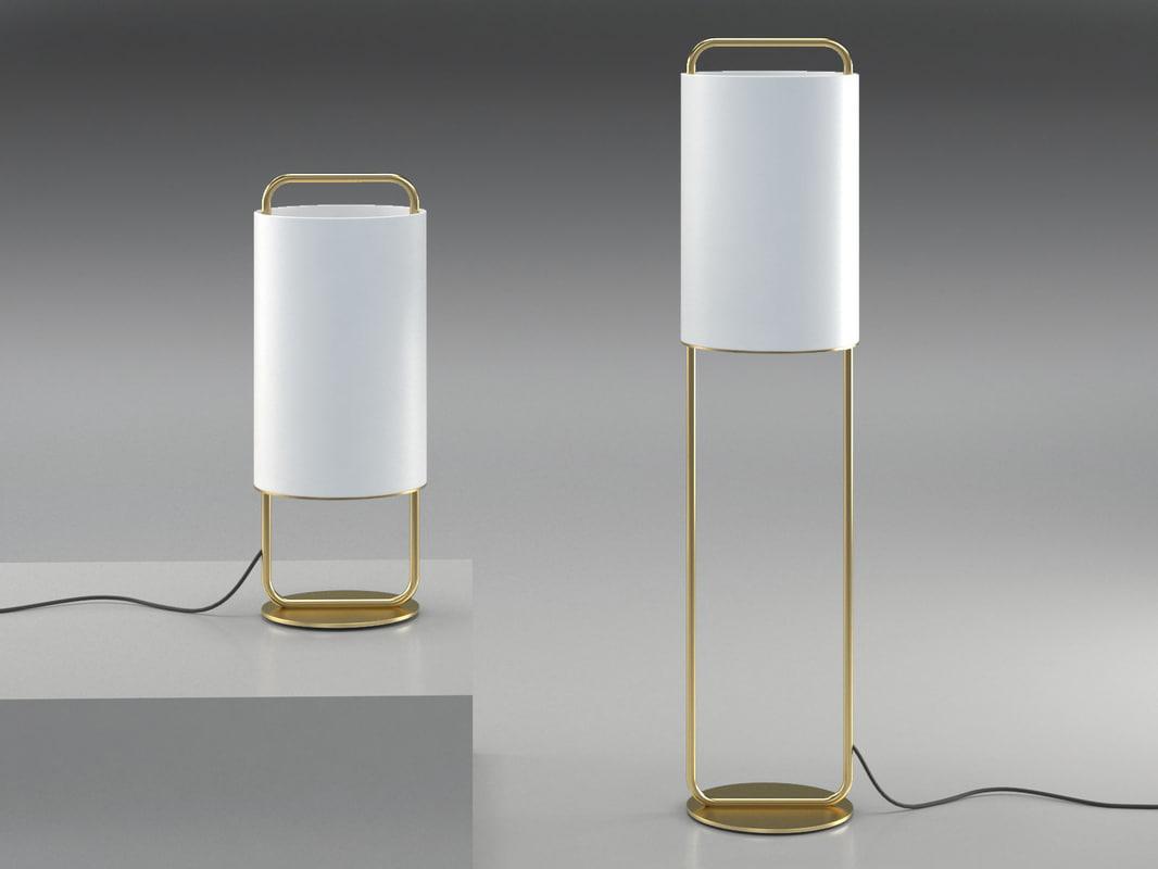 3D alistair floor table lamps model