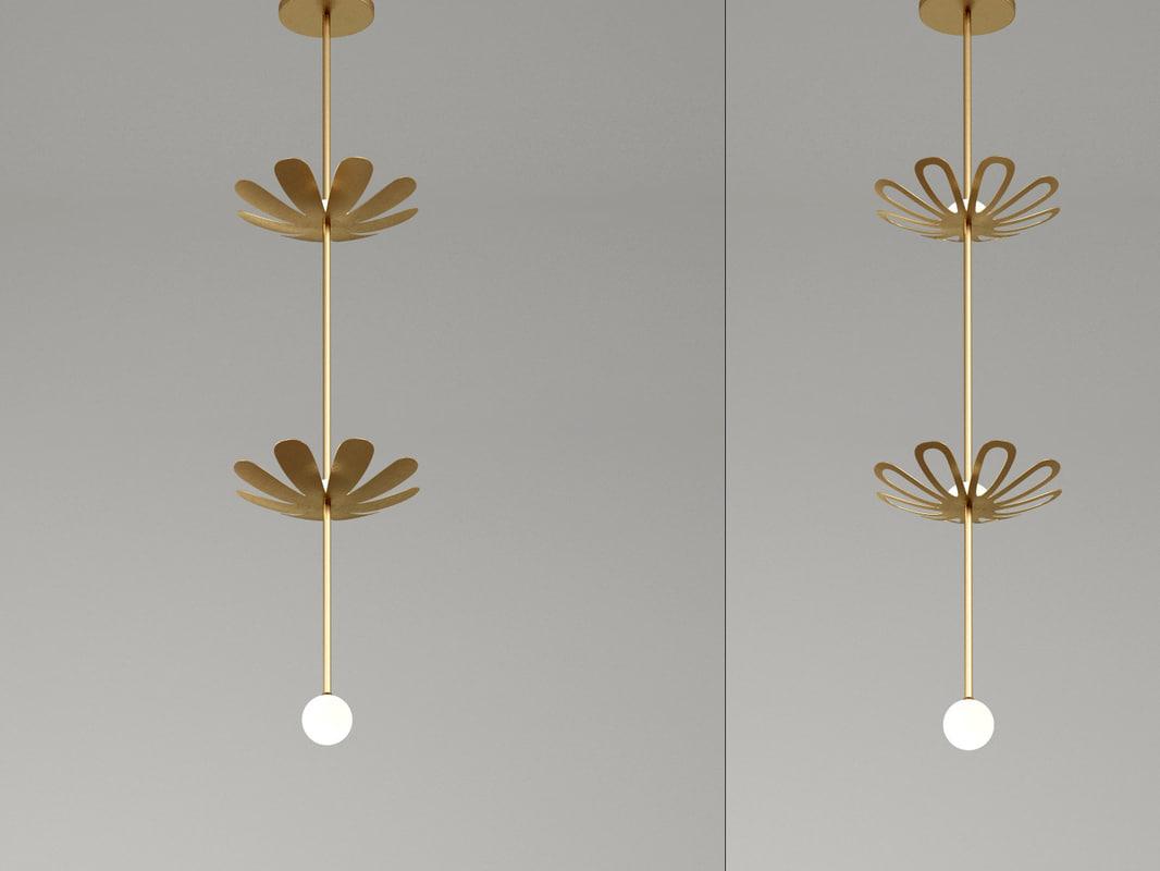 3D herbe pendant lamp