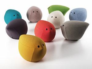 birdy pouf 3D