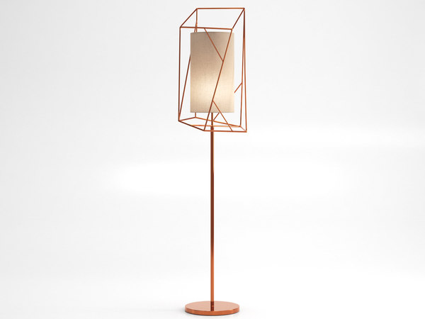 star floor lamp 3D model