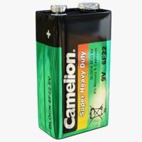 9 camelion battery 3D model