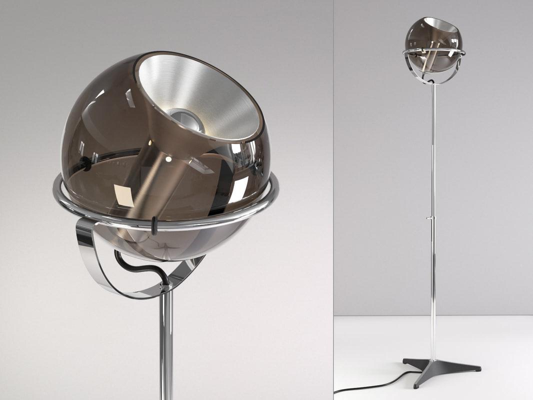 3D raak globe floor lamp model