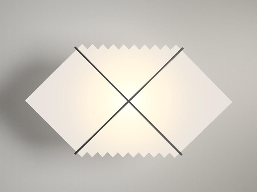 black hole wall lamp 3D model