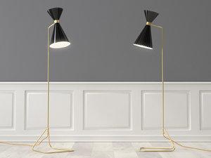 novara floor lamp 3D