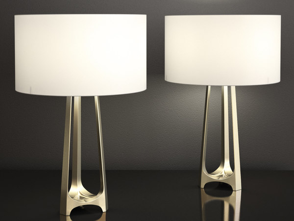 3D iron eye table lamp