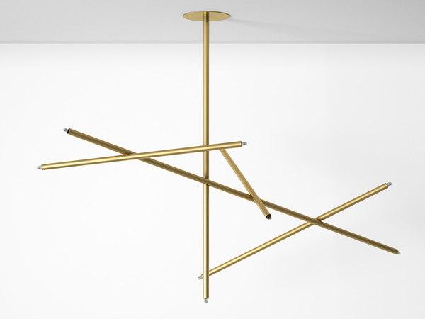 pick chandelier 5 stick 3D model