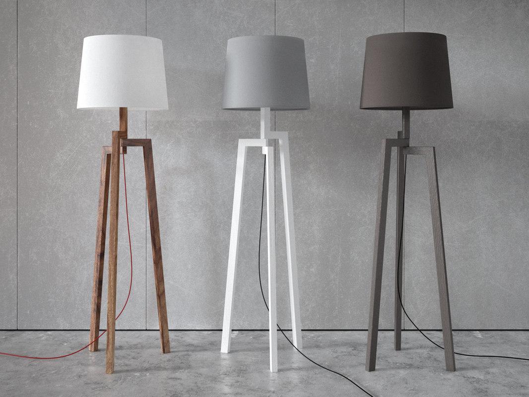 3D stilt floor table lamps model