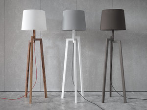 3D stilt floor table lamps model