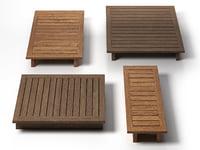 3D model maldives coffee tables