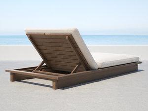 3D maldives chaise