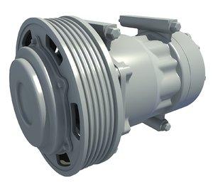 3D engine parts model