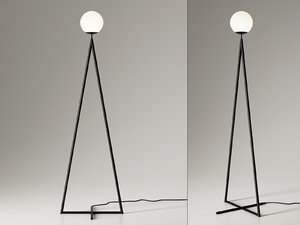 3D model globe-one cone floor lamp